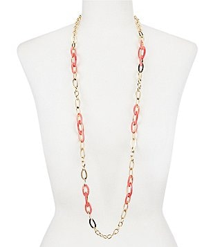 Anne Klein Chain Link Long Necklace