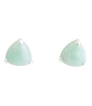 Barse Sterling Silver & Amazonite Stud Earrings