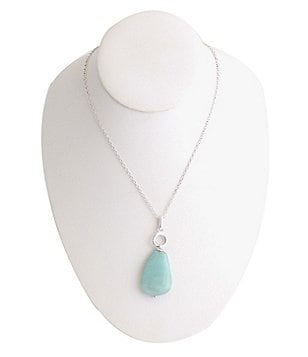 Barse Sterling Silver & Amazonite Necklace