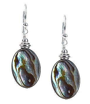 Barse Sterling Silver & Abalone Drop Earrings