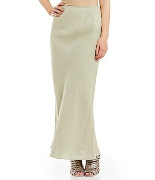 Bryn Walker Long Bias Knit Pull-On Skirt