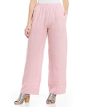 Bryn Walker Pintuck Pull-On Wide Leg Pants