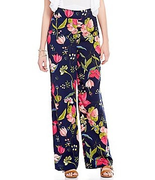 GB Floral-Print Wide Leg Pants