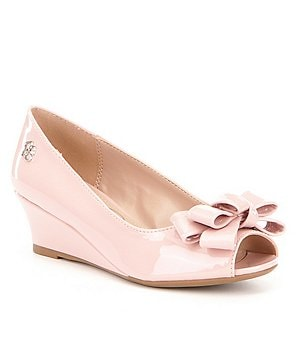 Jessica Simpson Girls´ Gayla Bow Peep-Toe Wedges