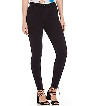 Guess Super High Rise Adore Woven Stretch Skinny Jeans