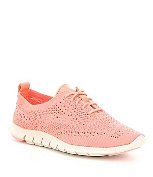 Cole Haan Zerogrand Feather Perforated Knit Lace Up Casual Sneakers