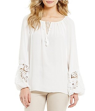 Alex Marie Mercia Long Lace Sleeves Blouse