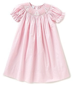 Edgehill Collection Little Girls 2T-4T Bunny Poplin Dress
