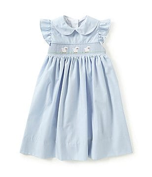 Edgehill Collection Little Girls 2T-4T Poplin Lamb Dress