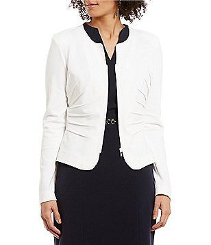 Alex Marie Claire Round Neck Long Sleeve Zip-Front Jacket