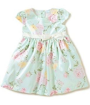 Edgehill Collection Little Girls 2T-4T Floral Satin-Bow Dress
