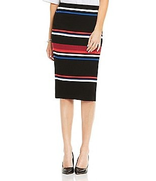 Vince Camuto Stripe Pull-On Pencil Skirt