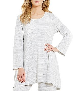 Bryn Walker Nahla Round Neck Long Sleeve Striped French Terry Tunic