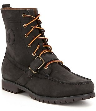 Polo Ralph Lauren Men´s Ranger Leather Buckled Strap Lace Up Boot