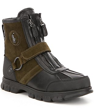 Polo Ralph Lauren Men´s Conquest III Leather Front Zip Strapped Boot