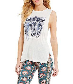 Billabong Traveling Flag Graphic Knit Tank Top