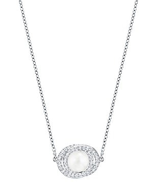 Swarovski Elaborate Crystal & Faux-Pearl Pendant Necklace