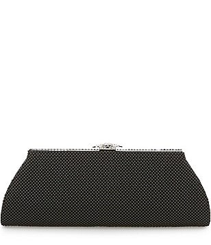 Kate Landry Ball Mesh Frame Clutch