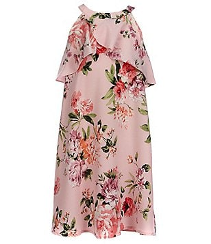 Monteau Girl Big Girls 7-16 Floral-Print Ruffled Dress