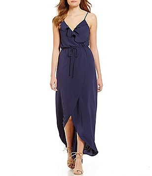 GB Ruffle Wrap Maxi Dress