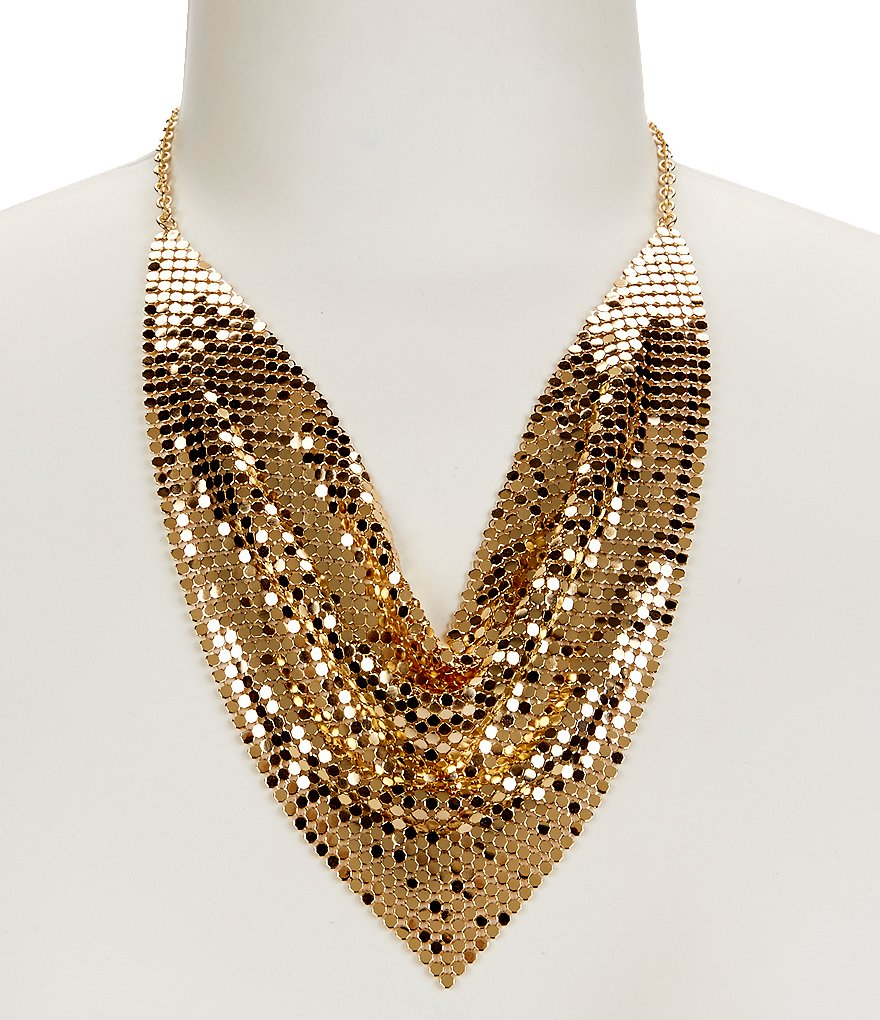 Anna & Ava Disco Fever Mesh Statement Necklace