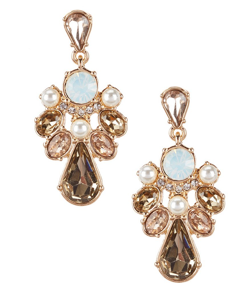Gemma Layne Rhinestone Cluster Drop Earrings