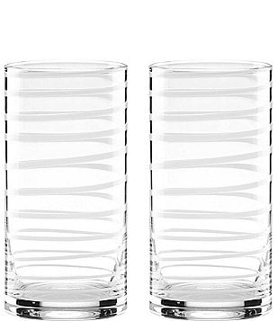 kate spade new york Charlotte Street White 2-piece Highball Glass Set