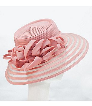 Giovannio Taffeta Large Brim Dress Hat