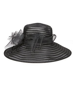 Giovannio Faux-Horsehair Large-Brim Dress Hat