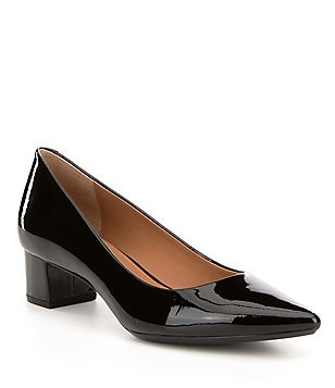 Calvin Klein Genoveva Patent Leather Slip On Pointed Toe Dress Pumps