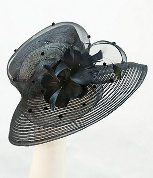 Giovannio Sinamay Large Brim Dress Hat