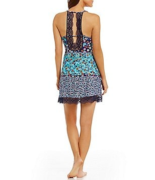 In Bloom by Jonquil Heathercliff Floral Crochet-Back Chemise