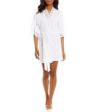 In Bloom by Jonquil Lace-Trimmed Wrap Robe