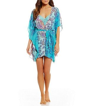 In Bloom by Jonquil Paisley Chiffon Wrap Robe