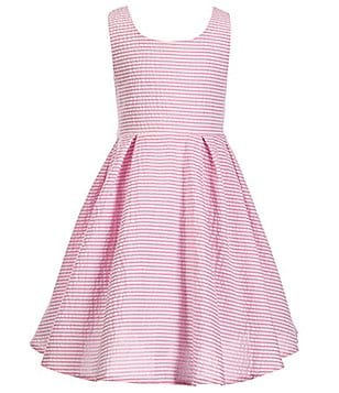Rare Editions Little Girls 2T-6X Striped Seersucker Bow-Back Dress