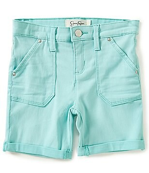 Jessica Simpson Big Girls 7-16 Twill Treasure Bermuda Cuffed Shorts