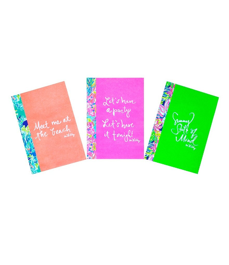 Lilly Pulitzer 3-Piece Mini Notebook Set