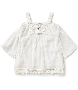 Takara Big Girls 7-16 Cold-Shoulder Peasant Top