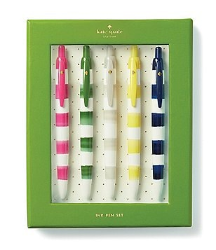 kate spade new york Rugby-Striped Pen Set