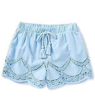 Takara Big Girls 7-16 Pull-On Laser-Cut Shorts