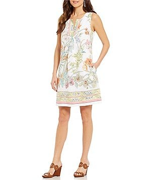 Tommy Bahama Paint By Rumba Fit & Flare Dress