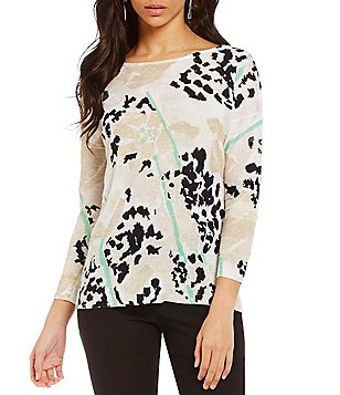 ZOZO Scoop Neck 3/4 Sleeve Printed Top