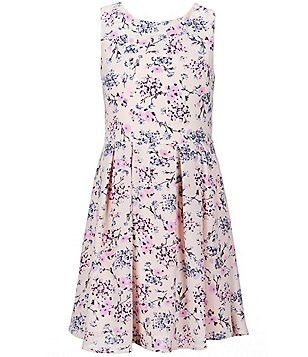 Copper Key Big Girls 7-16 Sleeveless Floral Printed Skater Dress