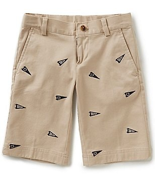 Brooks Brothers Little/Big Boys 4-20 Varsity Embroidered Chino Shorts