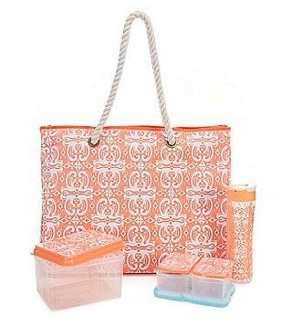 fit & fresh West Hampton Medallion Twist Insulated Summer Tote Kit