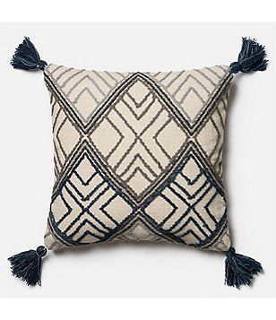 Magnolia Home by Joanna Gaines Soren Tasseled Oversized Square Feather Pillow