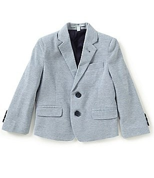 Class Club Little Boys 2T-7 Knit Pique Two-Button Blazer Jacket