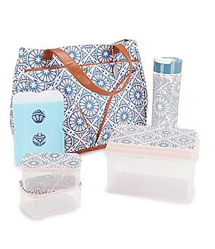 fit & fresh Williamsburg Valencia Tile Insulated Lunch Kit