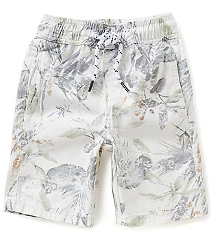 First Wave Little Boys 2T-7 Tropical-Print Twill Shorts