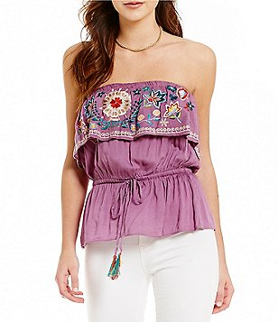 Chelsea & Violet Embroidered Tube Top